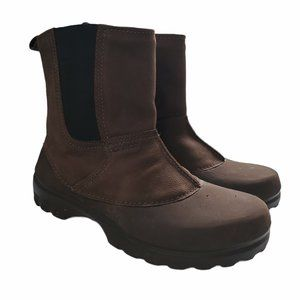 Crocs Men's Pull-on Faux Fur Lined Brown Boots